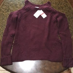 Hippie Rose Purple Knitted Sweater Top Size XS